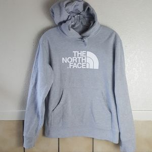 The North Face Men's Grey pull over hoodie Small